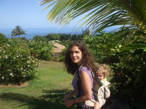 On Oahu with Bella and lillebaby